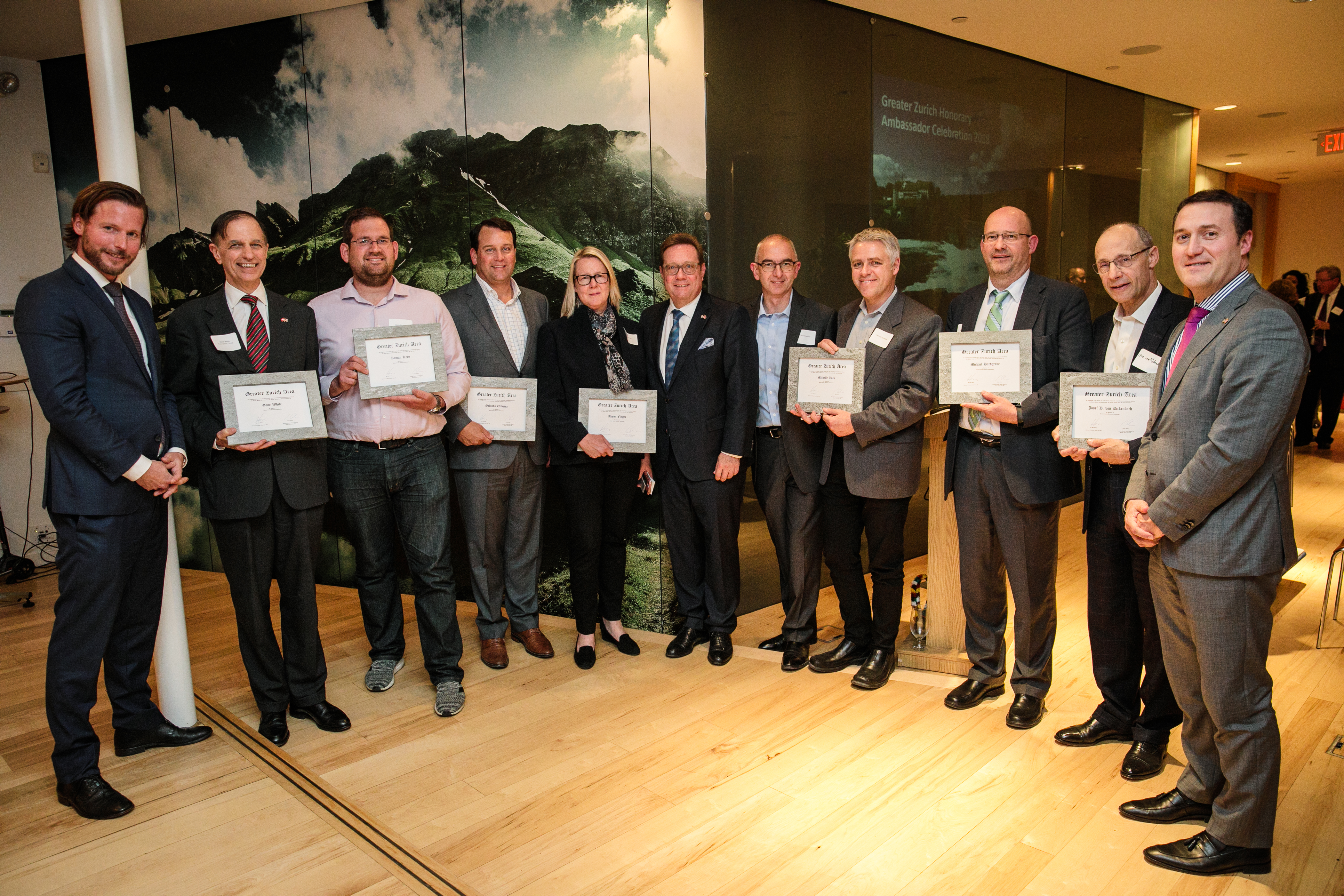 The Greater Zurich Honorary Ambassadors on the East Coast