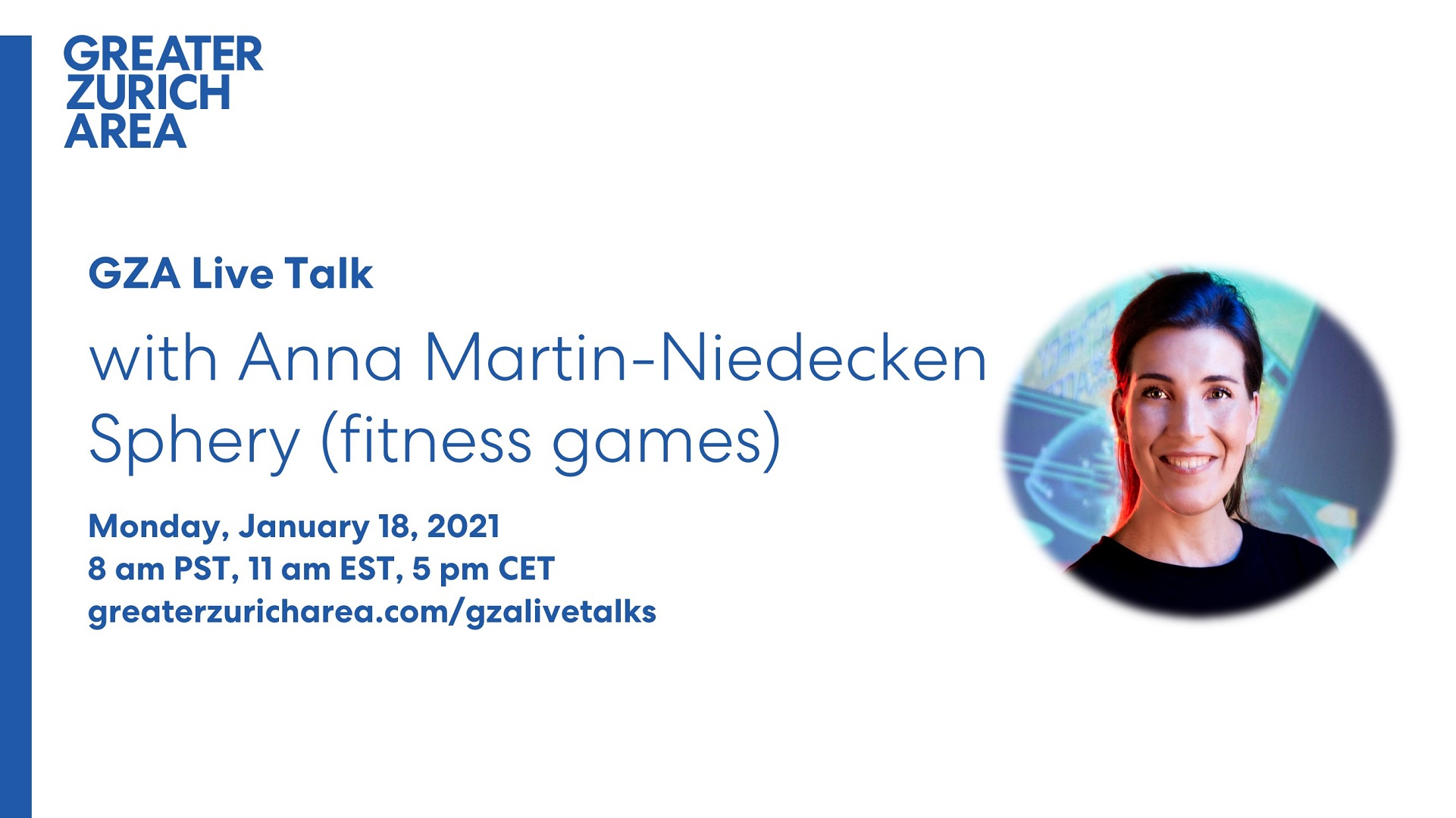 Join the GZA Live Talk with Anna Martin-Niedecken, Sphery (fitness games)