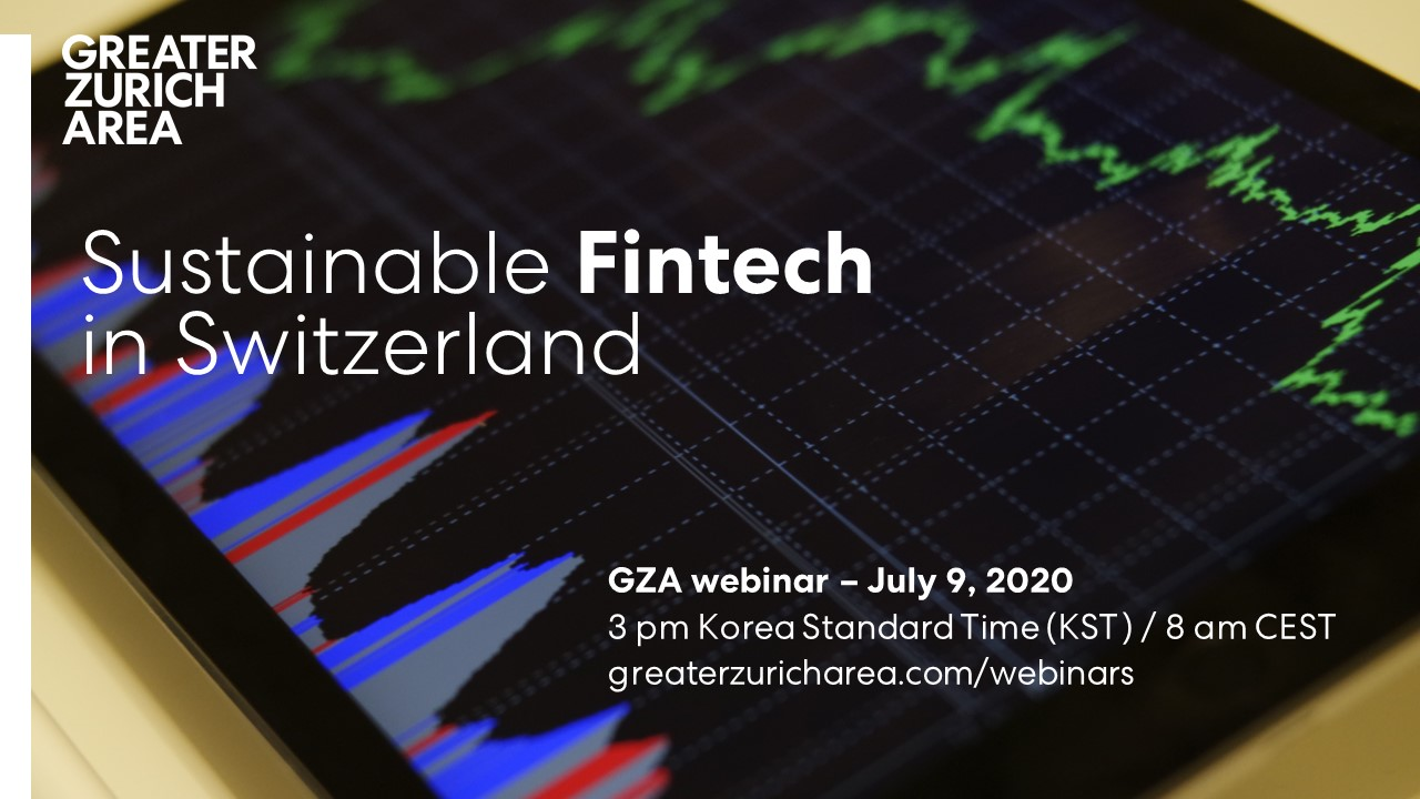GZA webinar Sustainable Fintech in Switzerland on July 9, 2020