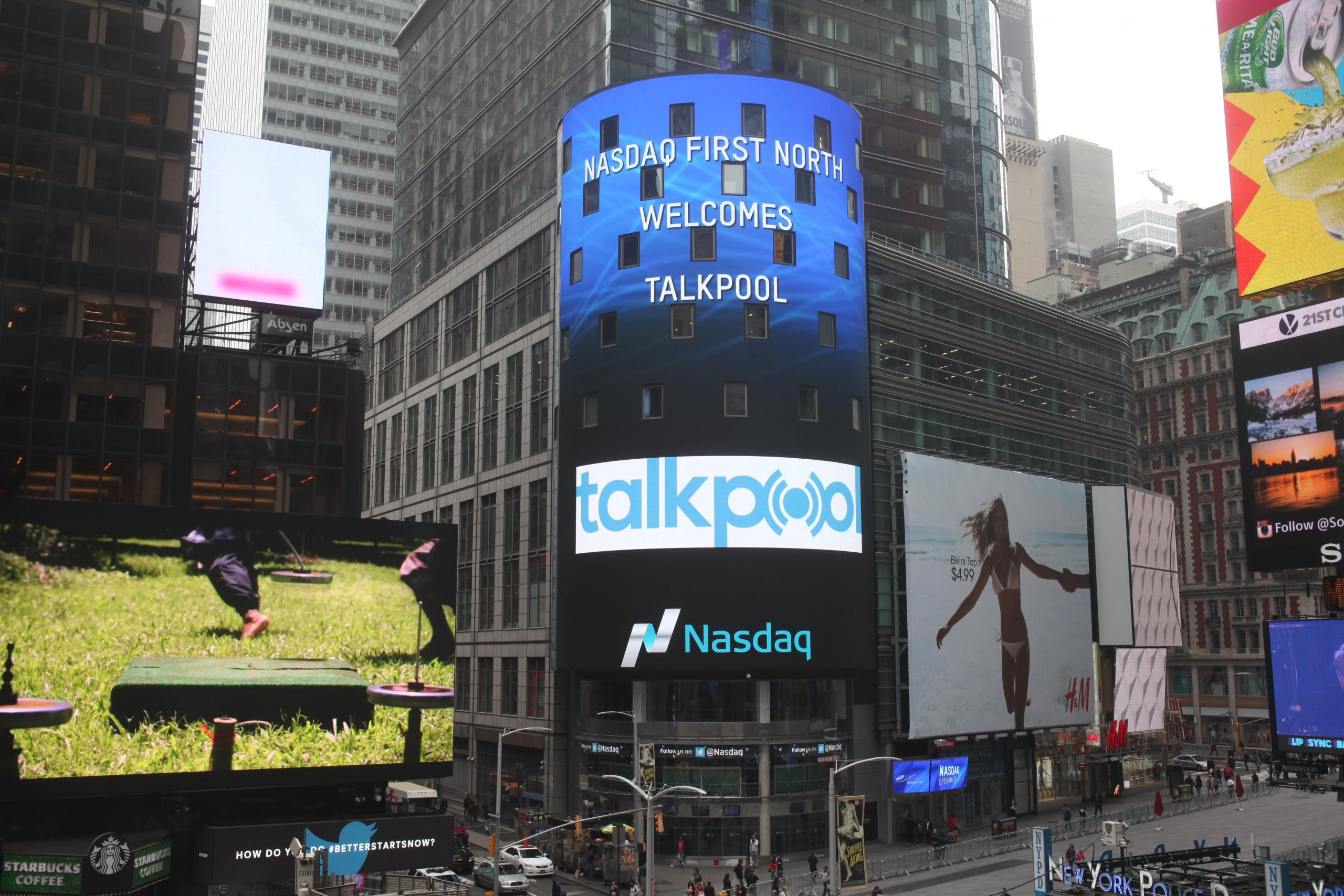 IPO Talkpool Advertisement at New York Timessquare