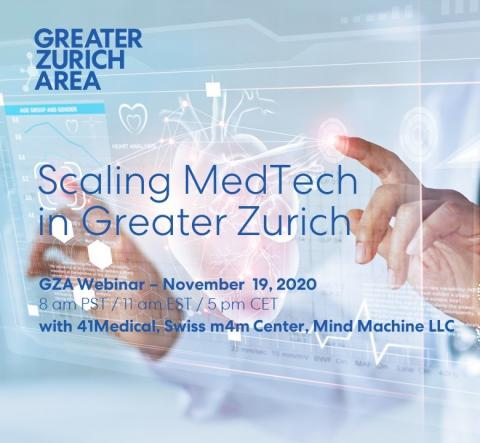 GZA webinar: Scaling MedTech in Greater Zurich